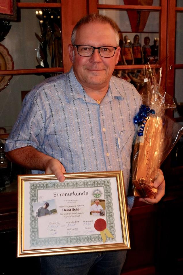 Heinz wurde zum Ehrenmitglied ernannt